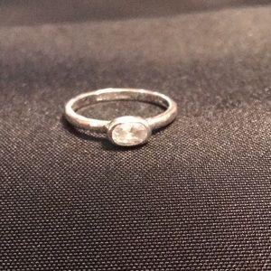 SILPADA .925 Sterling & CZ Belle Fleur Oval Ring